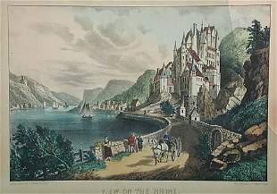011: Currier & Ives circa 1857-72 VIEW ON THE RHINE col