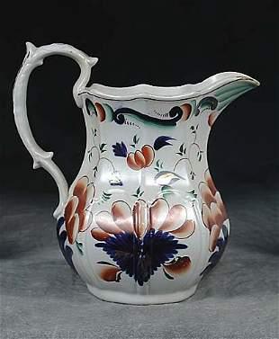 013: English ironstone pitcher late 19th century panele