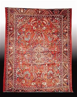 """017: Persian Lilihan carpet (Good condition) 7' x 9'4"""""""