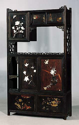 230: Japanese lacquered shodana Meiji period (late 19th