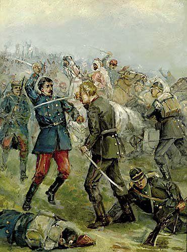 128: British school (late 19th century) HAND TO HAND, F