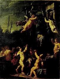 212: Italian old masters (18th century) CHERUBS IN PURS