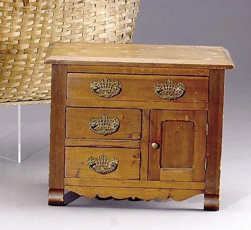 402: Southern walnut miniature chest circa 1911 rectang