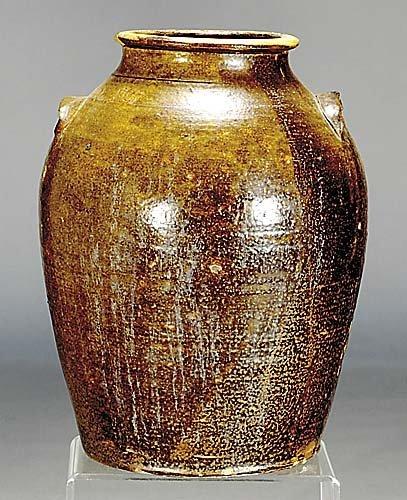 407: Southern stoneware storage jar circa 1900 5 gallon