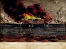 540 Currier  Ives Bombardment of Fort Sumter Charle