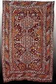 703: Antique Afshar carpet circa 1940 (Good condition)