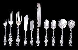 733: Whiting Division Gorham 'Lily' sterling flatware c
