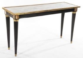 LOUIS XVI STYLE CONSOLE TABLE MARBLE TOP 1950