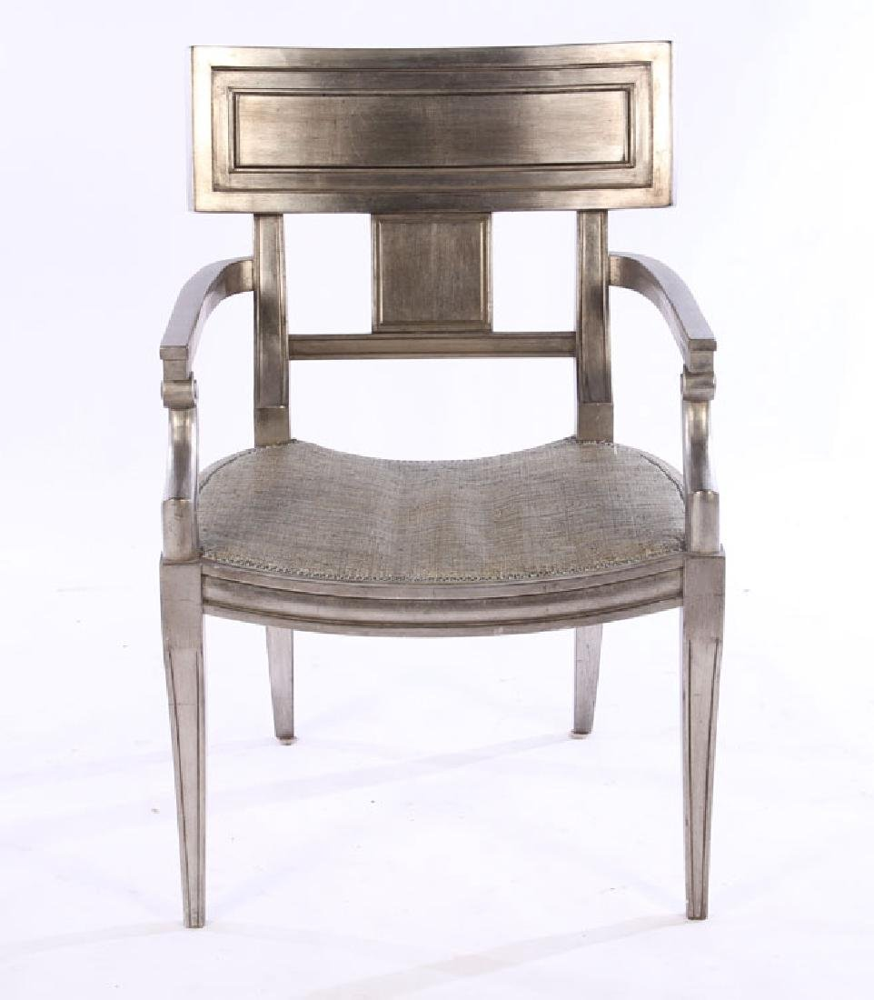PAIR OF EARLY 20TH CENT. EMPIRE GILT WOOD CHAIRS - 3