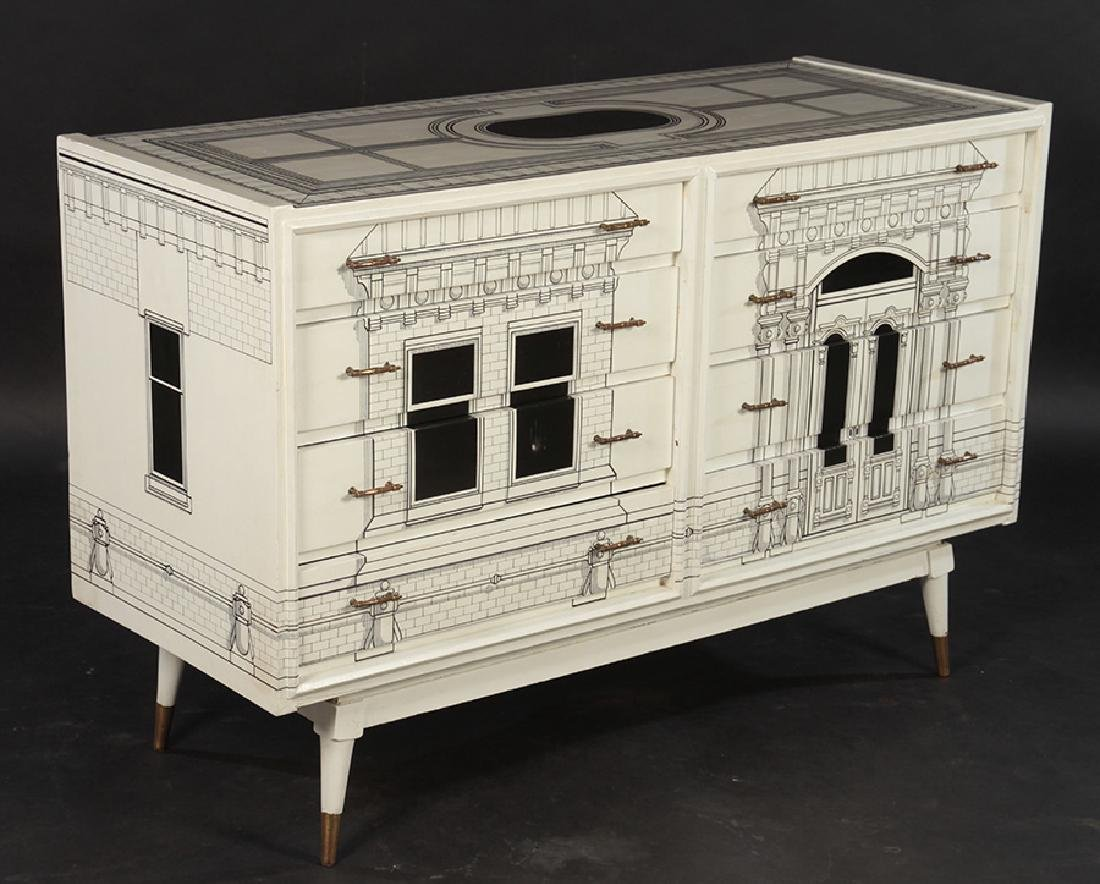 FORNASETTI STYLE 8 DRAWER COMMODE 1960 - 2