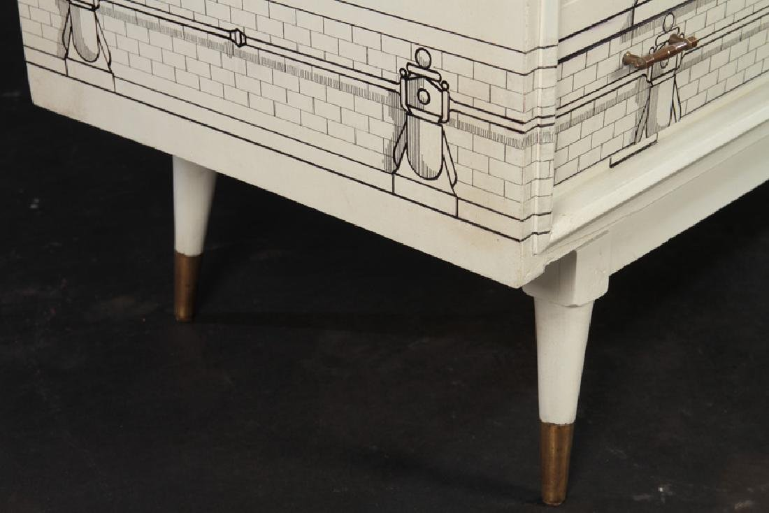 FORNASETTI STYLE 8 DRAWER COMMODE 1960 - 6
