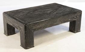 EBONIZED CERUSED OAK MID CENTURY COFFEE TABLE