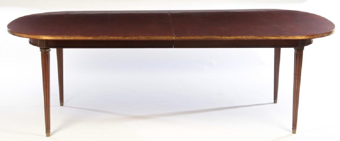 JANSEN LOUIS XVI  MAHOGANY DINING TABLE  EXTENDS TO 13- - 2