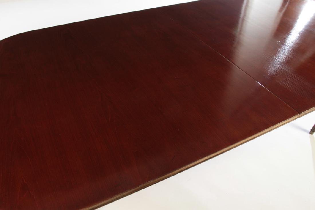 JANSEN LOUIS XVI  MAHOGANY DINING TABLE  EXTENDS TO 13- - 3