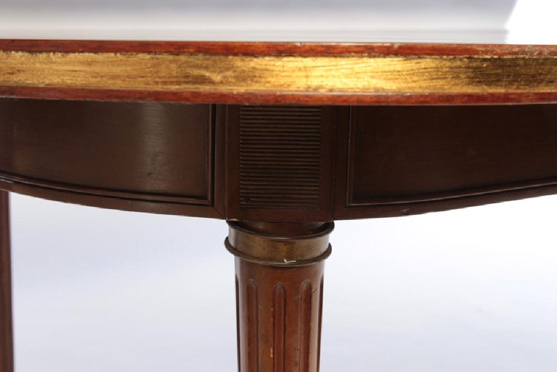 JANSEN LOUIS XVI  MAHOGANY DINING TABLE  EXTENDS TO 13- - 4