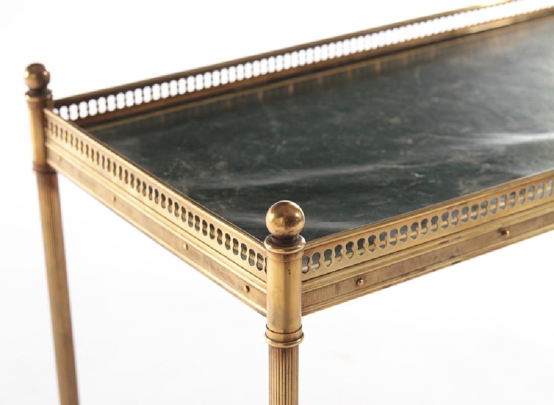 JANSEN STYLE BRASS TWO TIER SIDE TABLE C.1950 - 4