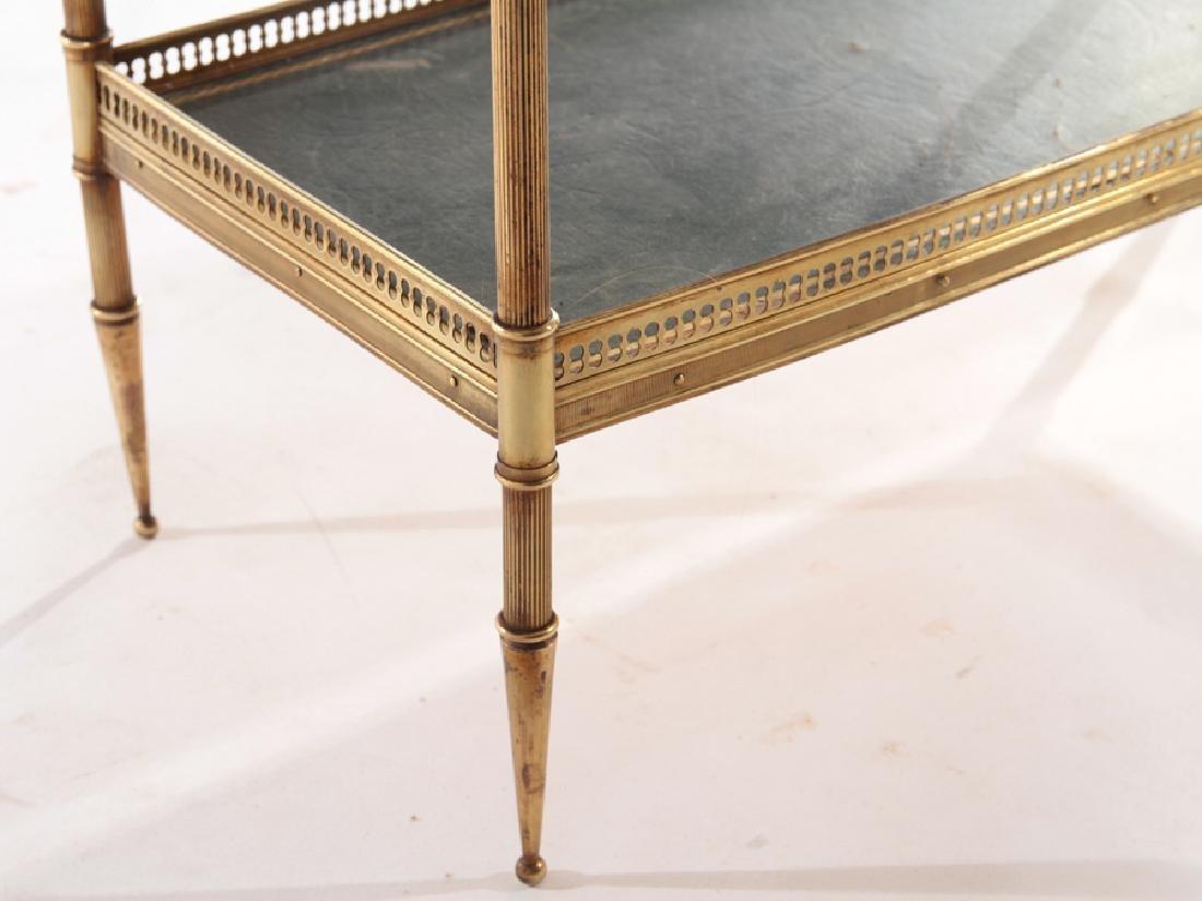 JANSEN STYLE BRASS TWO TIER SIDE TABLE C.1950 - 5