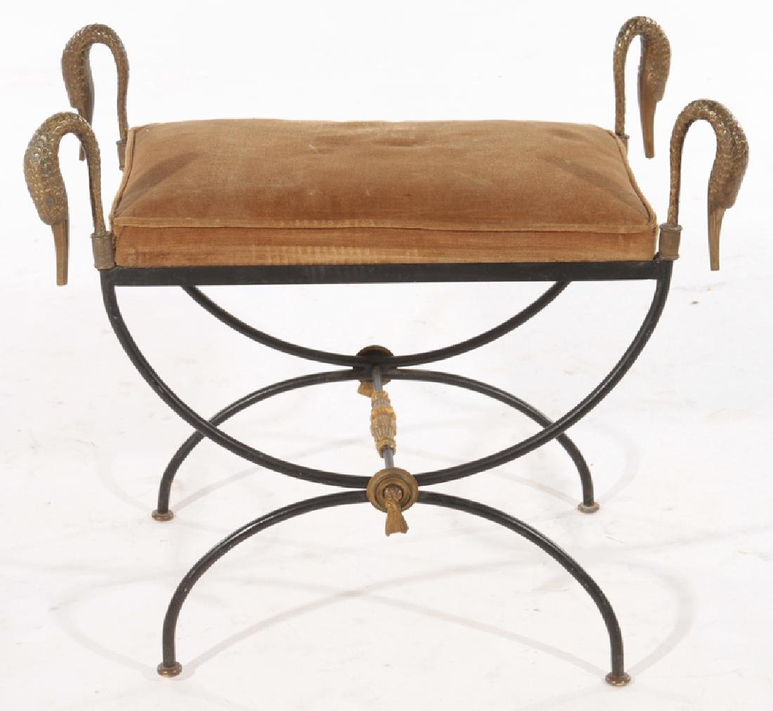 PR REGENCY STYLE WROUGHT IRON BENCHES 1960 - 3