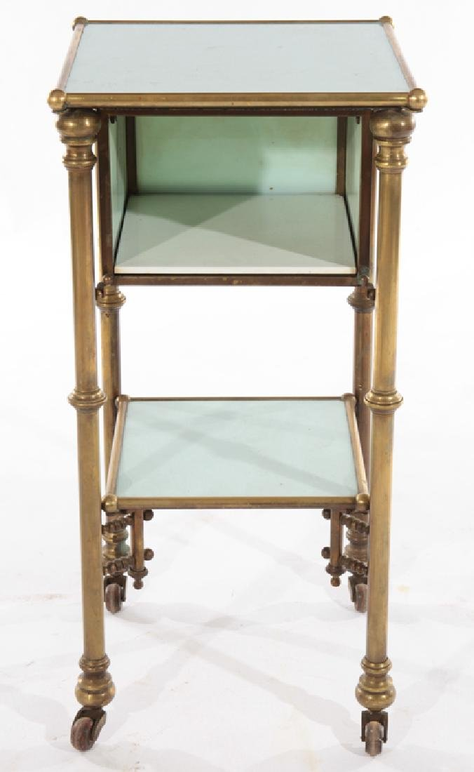 FRENCH BRASS APOTHECARY SIDE TABLE 1910