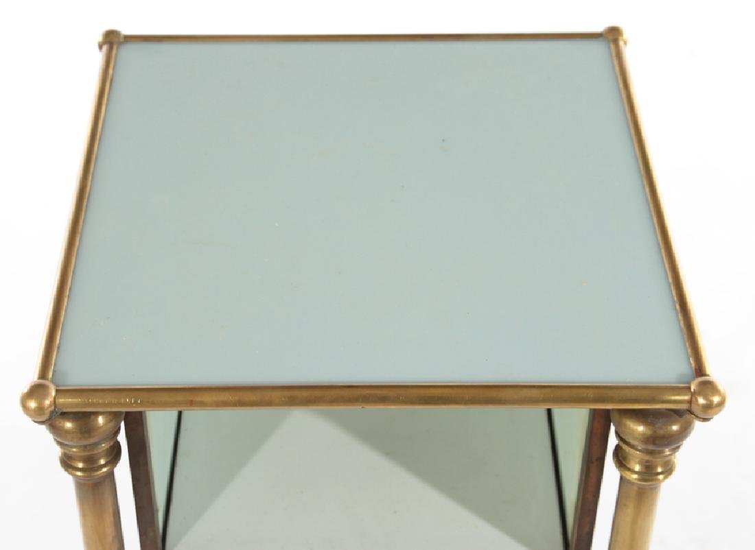 FRENCH BRASS APOTHECARY SIDE TABLE 1910 - 2
