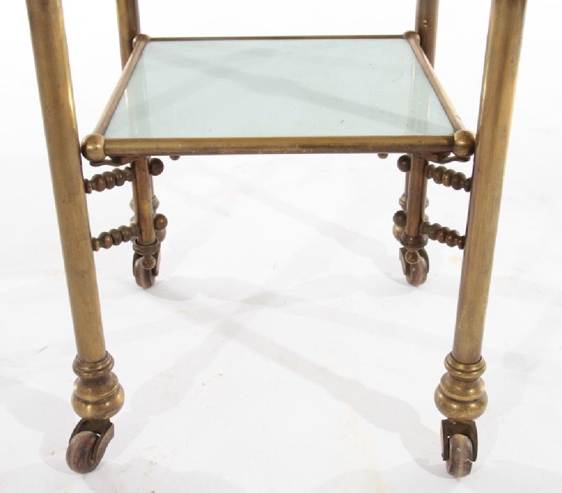 FRENCH BRASS APOTHECARY SIDE TABLE 1910 - 4