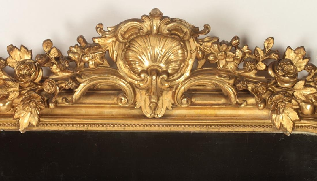 FRENCH 19TH C. LOUIS PHILLIPE GILT WOOD MIRROR - 2