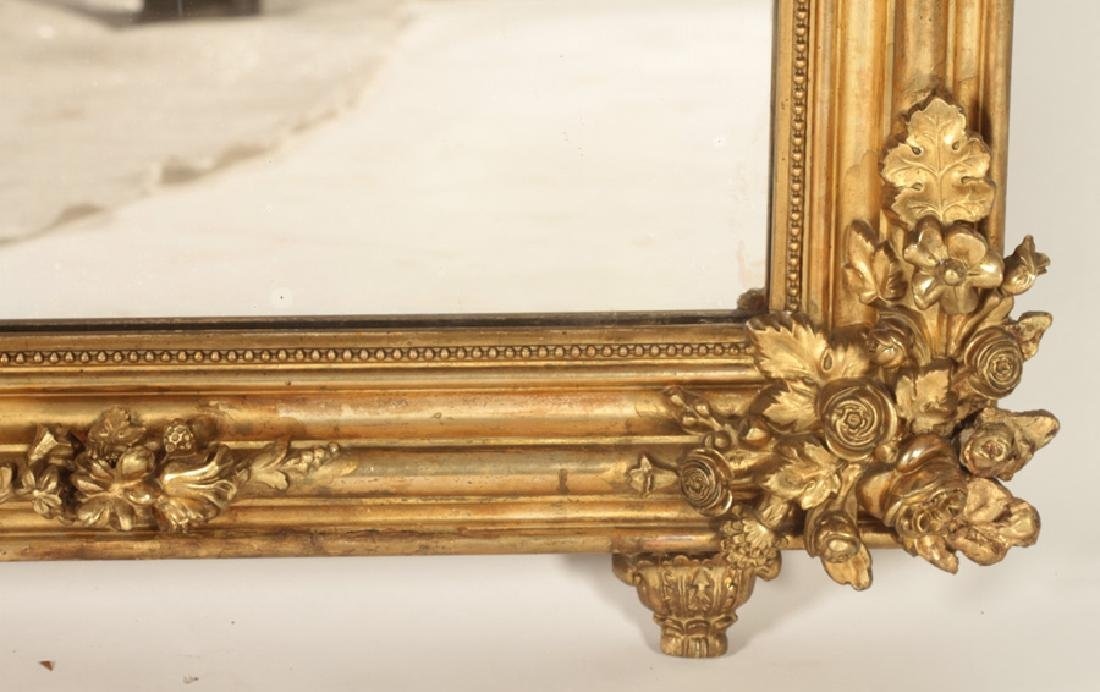 FRENCH 19TH C. LOUIS PHILLIPE GILT WOOD MIRROR - 4