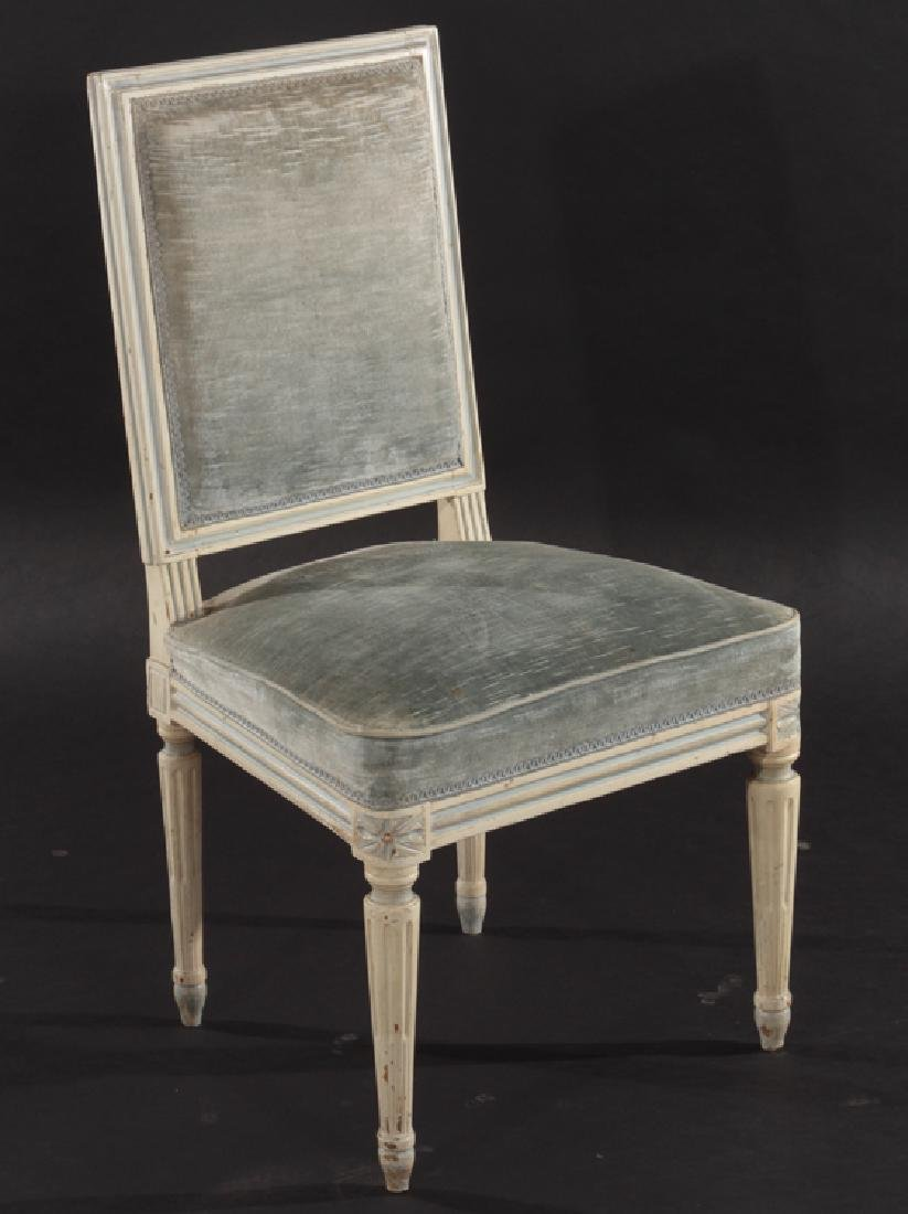 SET 4 FRENCH LOUIS XVI CARVED DINING CHAIRS 1940 - 2