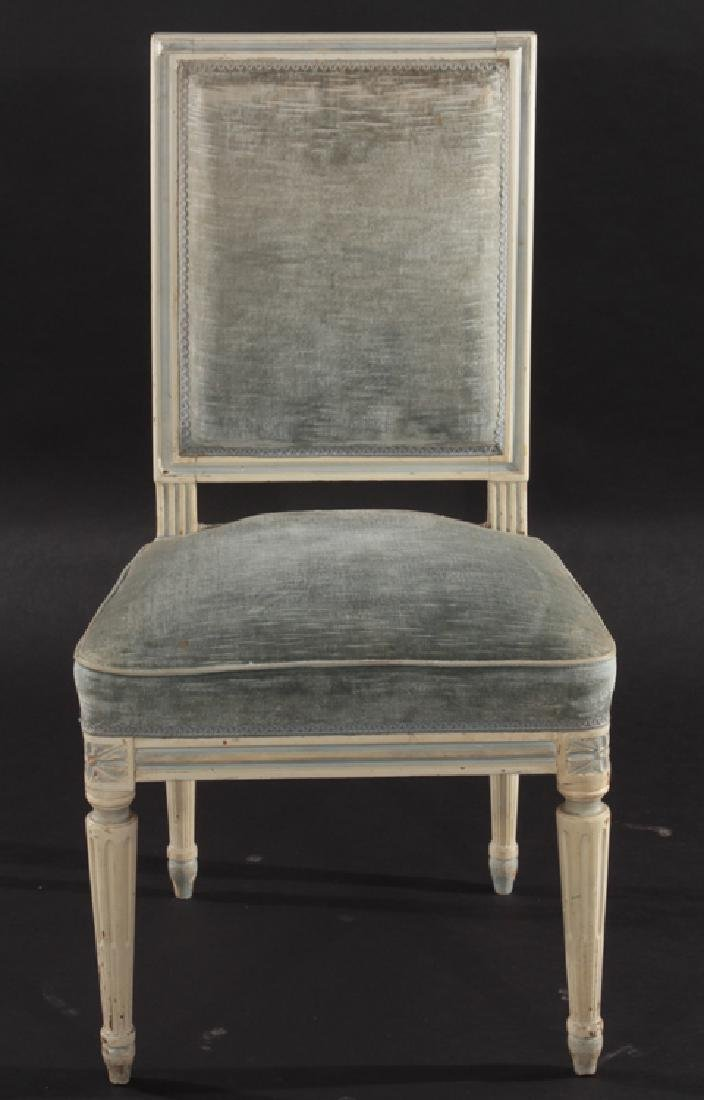 SET 4 FRENCH LOUIS XVI CARVED DINING CHAIRS 1940 - 3