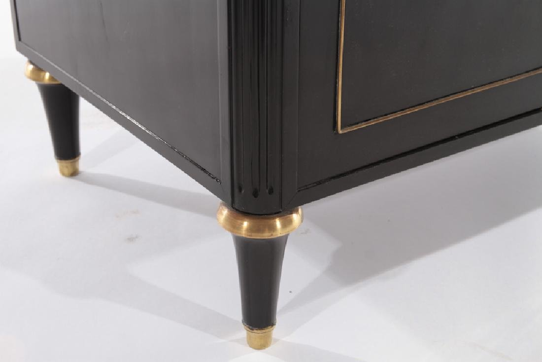 PAIR OF EBONIZED MARBLE TOP CABINETS C.1940 - 6