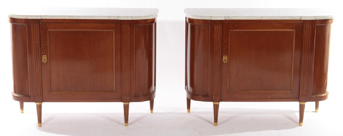 PAIR FRENCH LOIS XVI STYLE COMMODES 1940