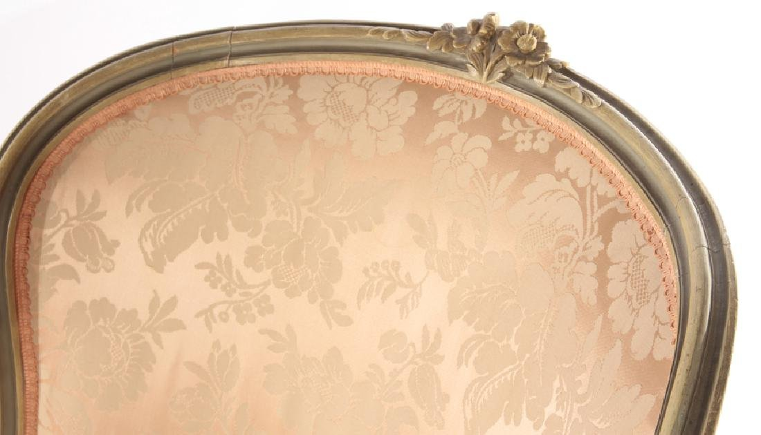 FRENCH LOUIS XVI CARVED 3 PART RECAMIER 1910 - 4