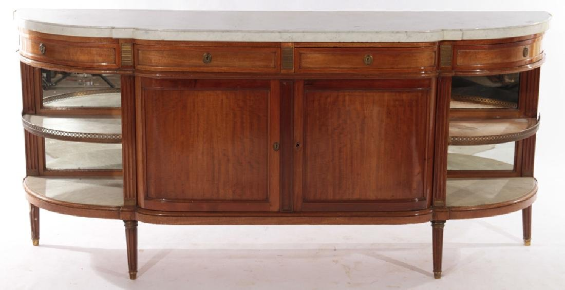 FRENCH MAHOGANY LOUIS XVI STYLE SIDEBOARD C.1940