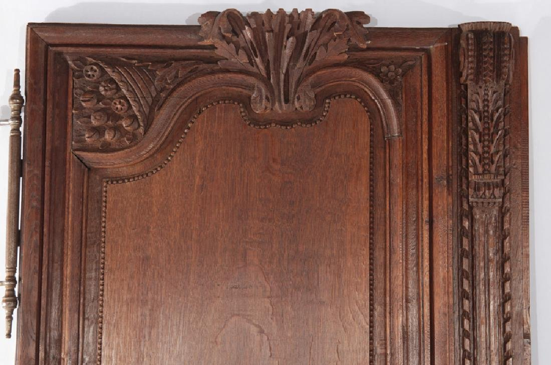 PAIR OF FRENCH 19TH CENT. CARVED OAK DOORS - 2