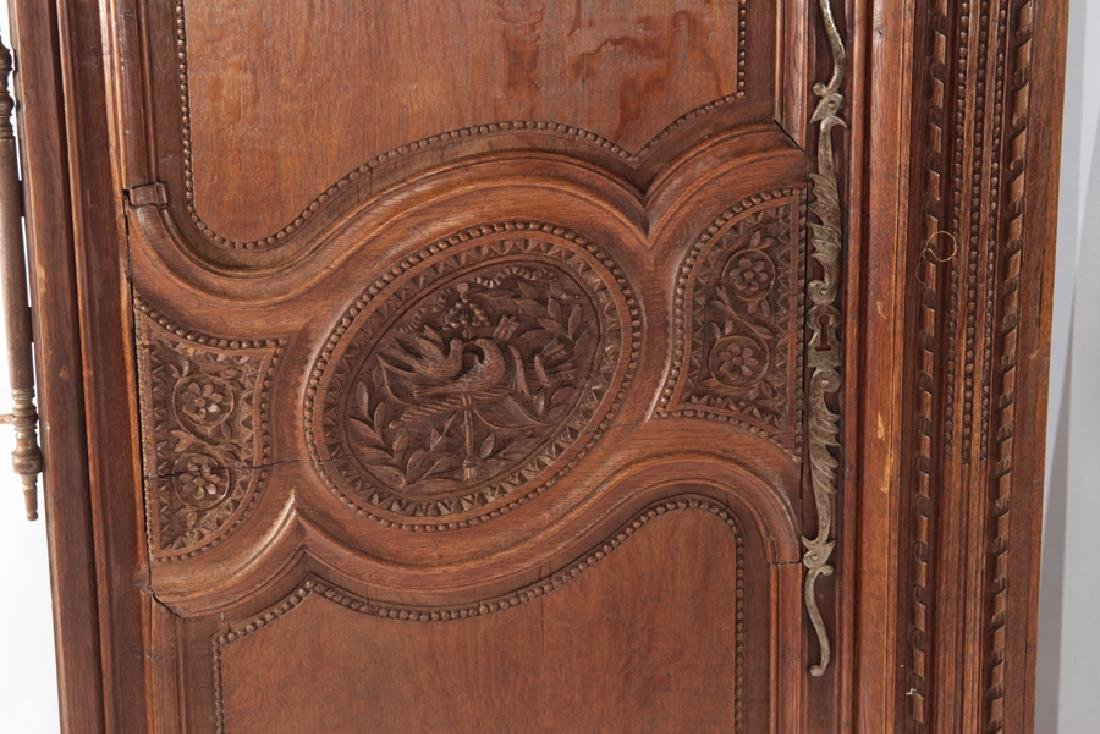 PAIR OF FRENCH 19TH CENT. CARVED OAK DOORS - 3