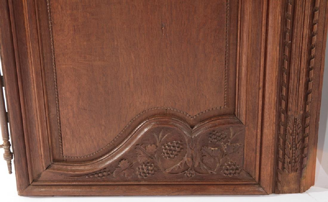 PAIR OF FRENCH 19TH CENT. CARVED OAK DOORS - 4