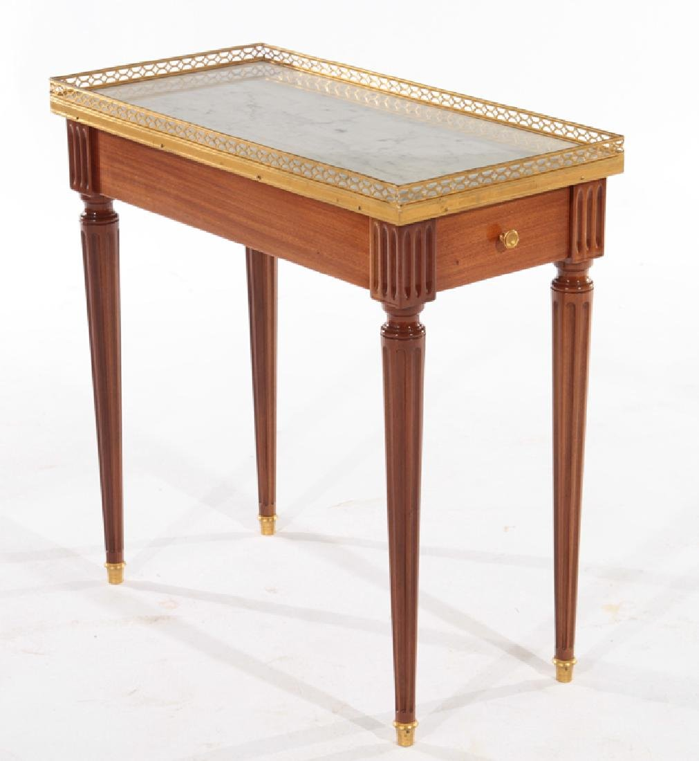 PAIR LOUIS XVI STYLE SIDE TABLES MARBLE TOP - 2