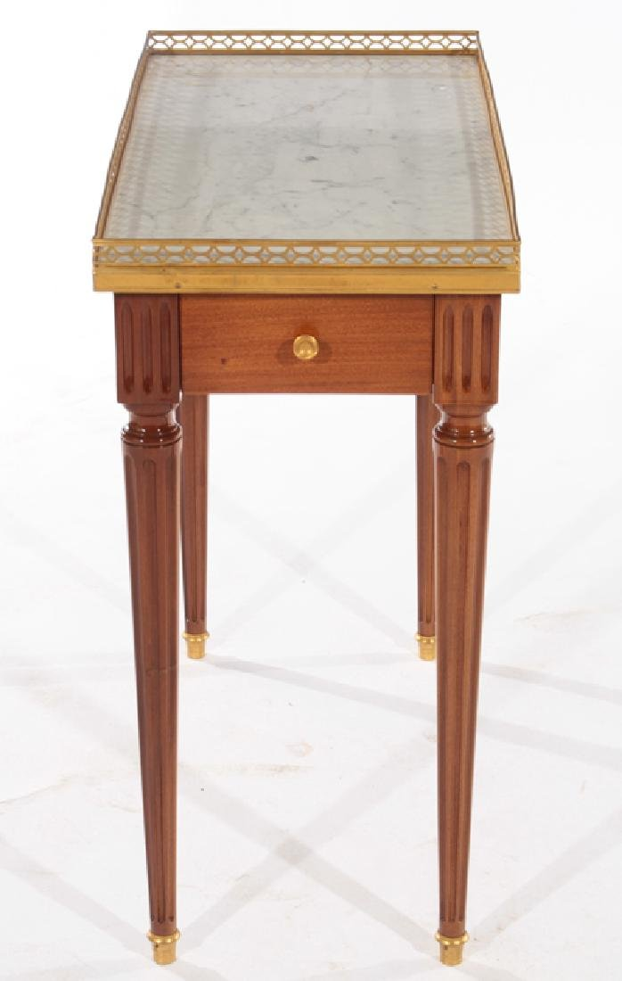PAIR LOUIS XVI STYLE SIDE TABLES MARBLE TOP - 3