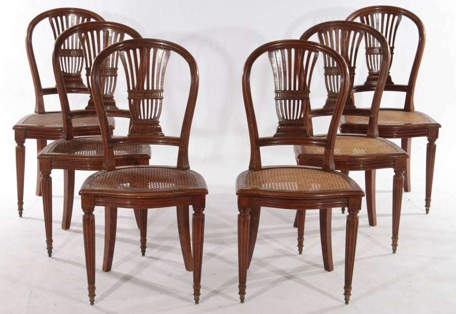 TEN PIECE FRENCH DIRECTOIRE STYLE DINING ROOM SET C1900 - 5