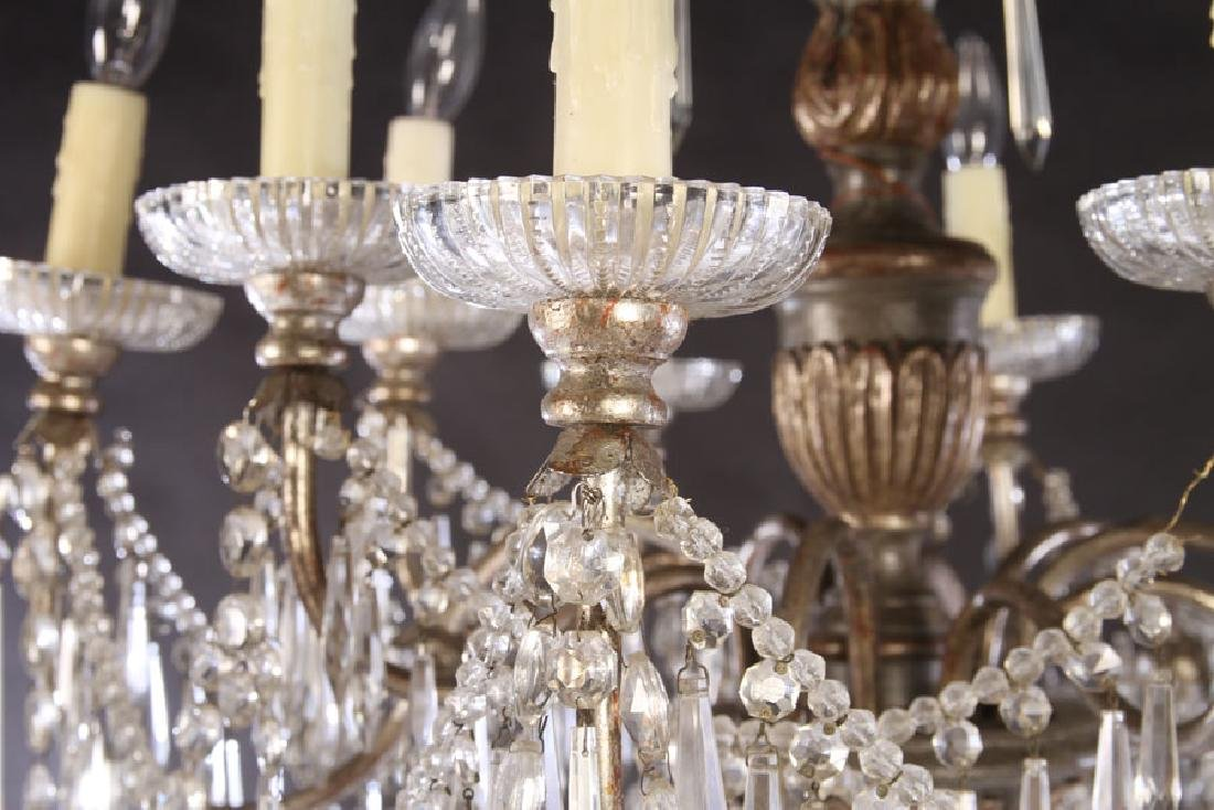 SILVER GILTWOOD PAINTED CHANDELIER 10 ARMS 1900 - 4