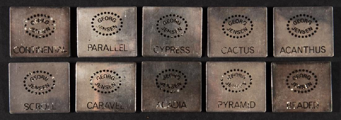 10 GEORG JENSEN STERLING SILVER PLAQUES C.1960
