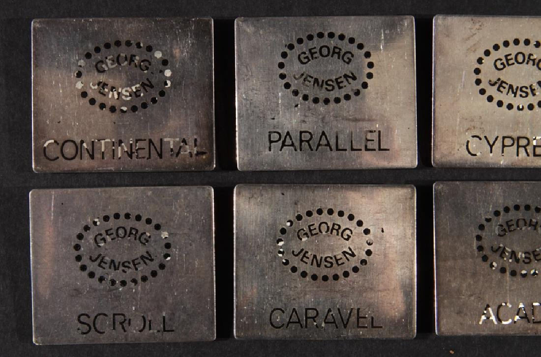 10 GEORG JENSEN STERLING SILVER PLAQUES C.1960 - 2