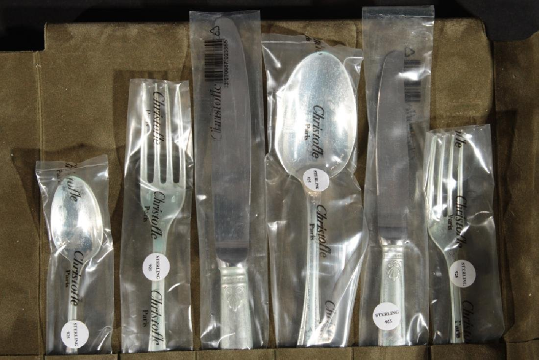 72 PC. CHRISTOFLE STERLING SILVER FLATWARE MALMAISON - 2