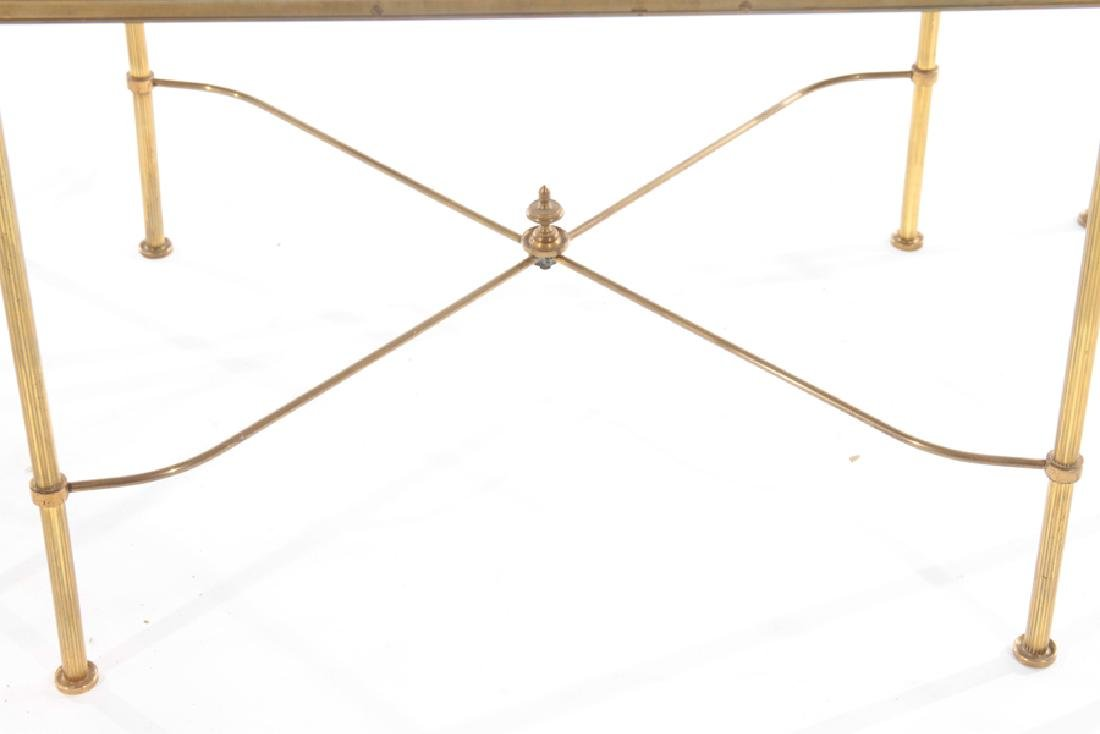 FRENCH BRASS BRONZE 3 PART COFFEE TABLE - 6