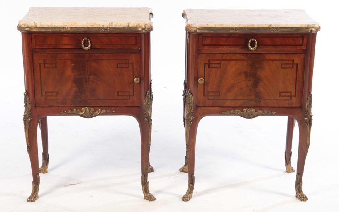 PAIR OF LOUIS XV STYLE SIDE CABINETS C. 1920