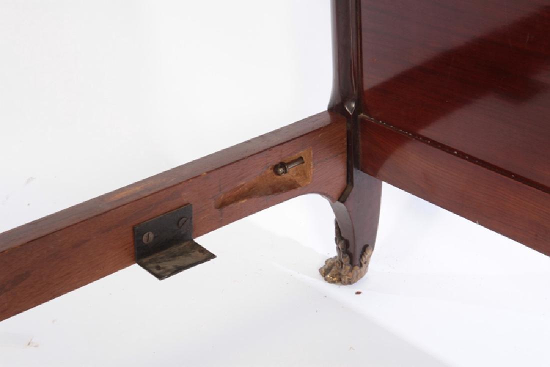LOUIS XV STYLE BRONZE MOUNTED MAHOGANY BED C.1920 - 6