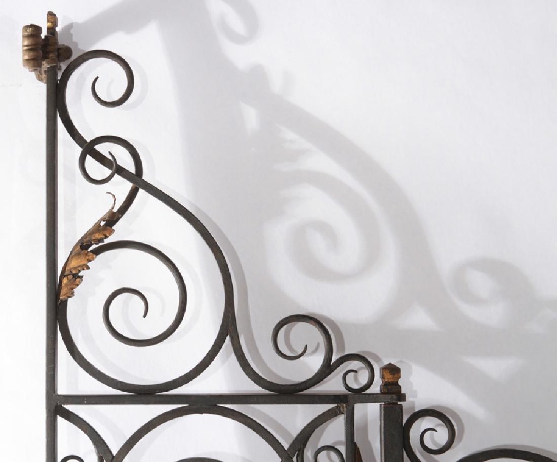 4 PANEL WROUGHT IRON BRONZE GARDEN GATE 1930 - 2