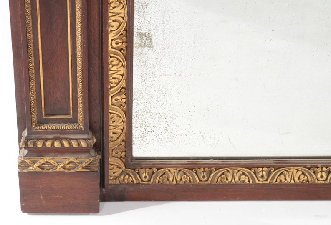LATE 19TH CENT. GILTWOOD CARVED MAHOGANY MIRROR - 4