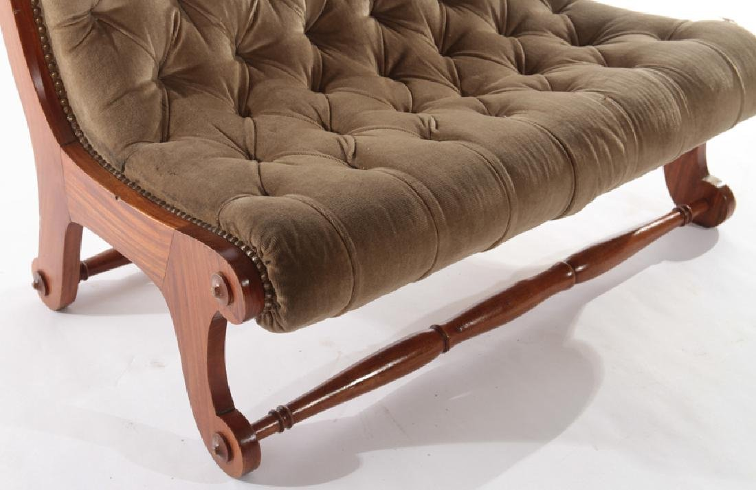 PAIR EDWARDIAN UPHOLSTERED BENCHES 1930 - 4