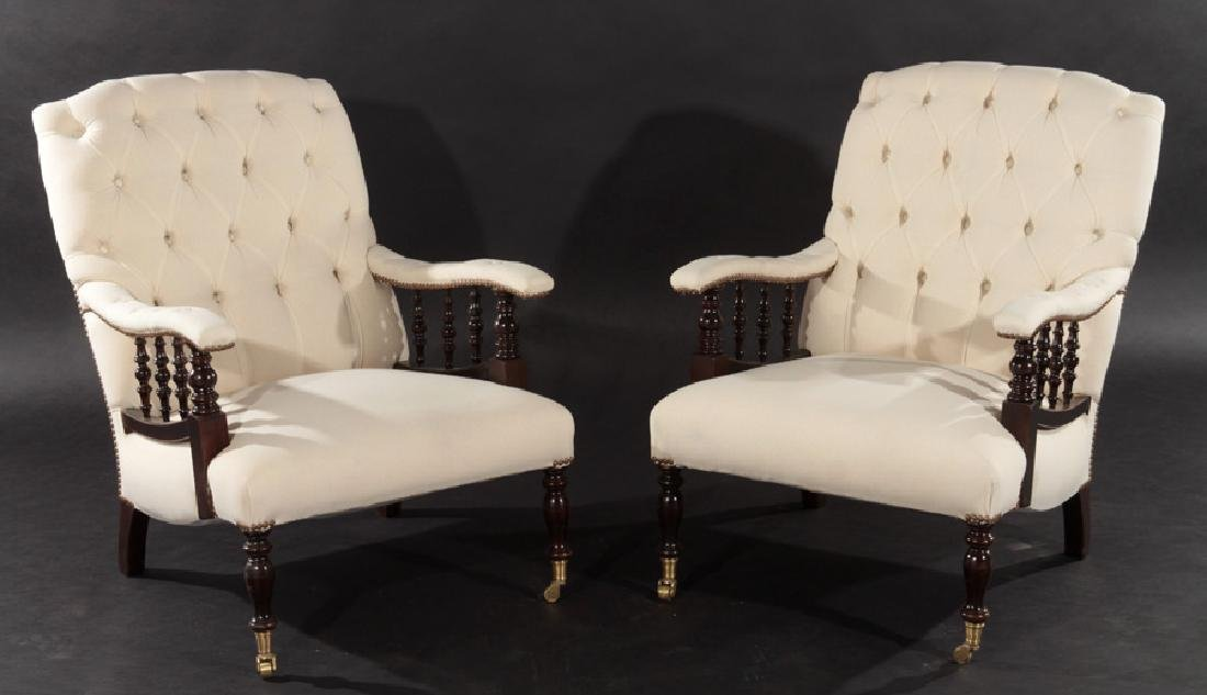 PAIR NAP III UPHOLSTERED CLUB CHAIRS 1940